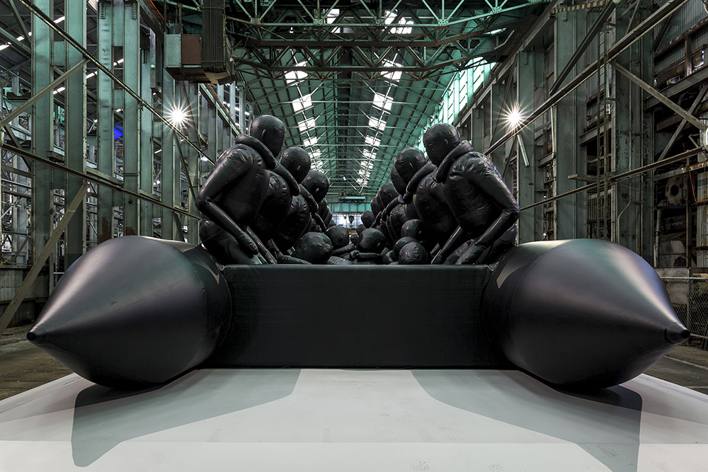 Ai Weiwei.  Law of the Journey , 2017. Reinforced PVC with aluminium frame. 60 x 6 x 3 . Presentation at the 21st Biennale of Sydney was made possible with generous support from the Sherman Foundation. Installation view of the 21st Biennale of Sydney (2018) at Cockatoo Island. Photograph: Document Photography. Courtesy the artist and neugerriemschneider, Berlin.
