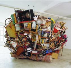 Sean Cordeiro and Claire Healy,  Deceased Estate , 2004, collaborative installation of warehouse detritus, 400.0 x 500.0 x 500.0cm.