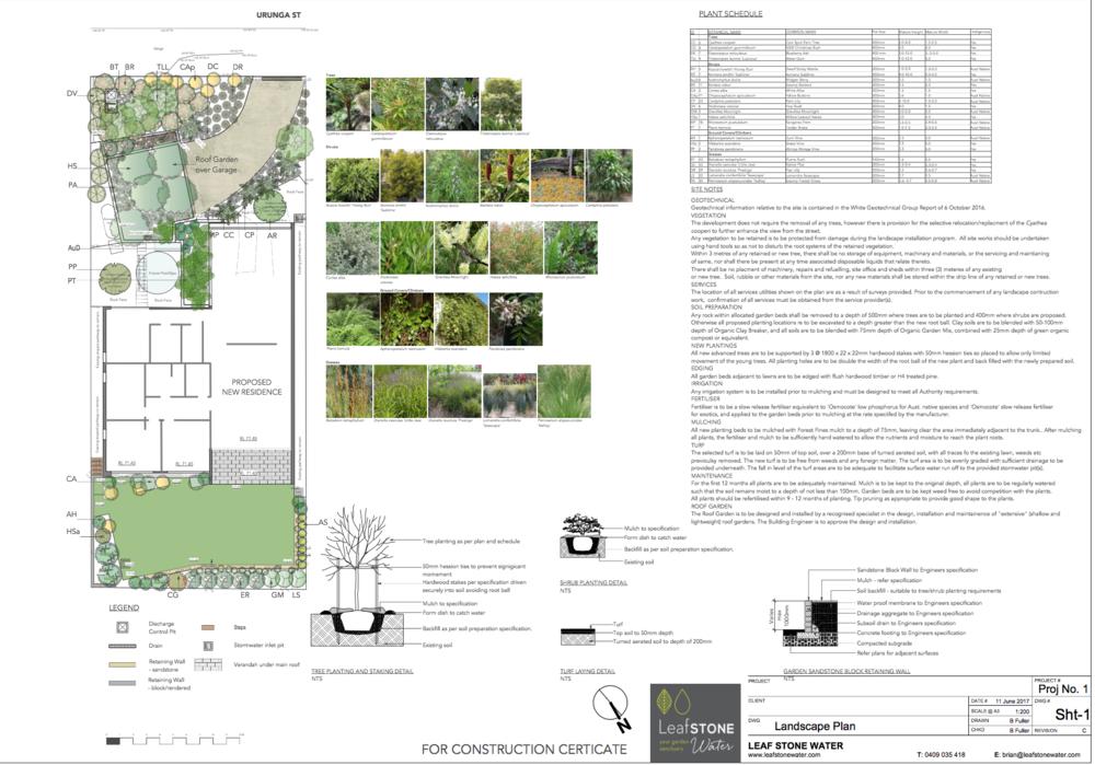 Example of a Landscape Designer's documentation.