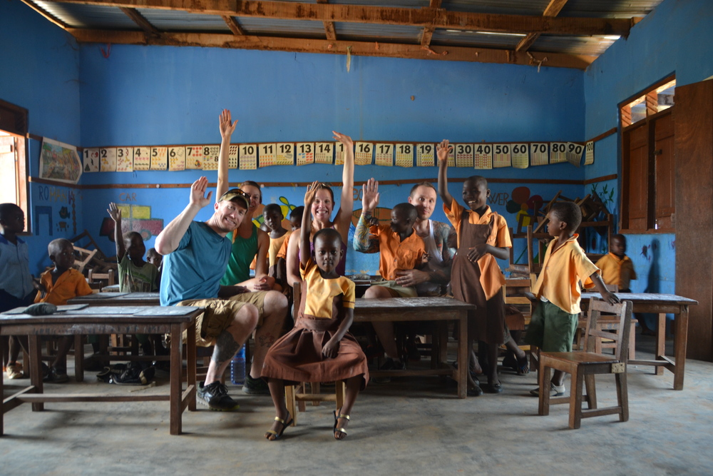 Inside one of the schools where we painted and spent our days with the kids