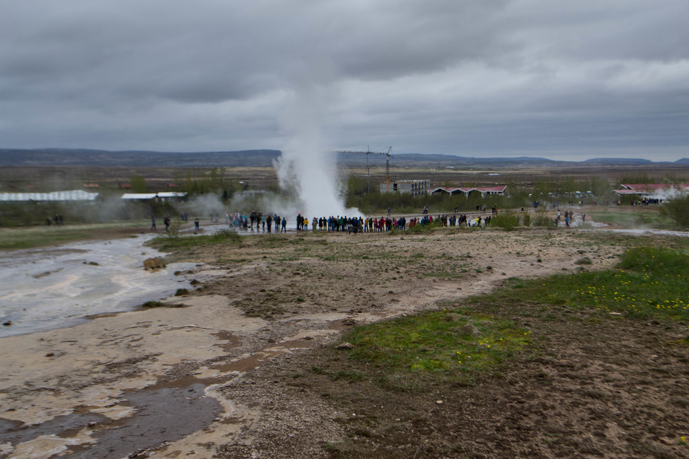 Geysir just seconds after an eruption