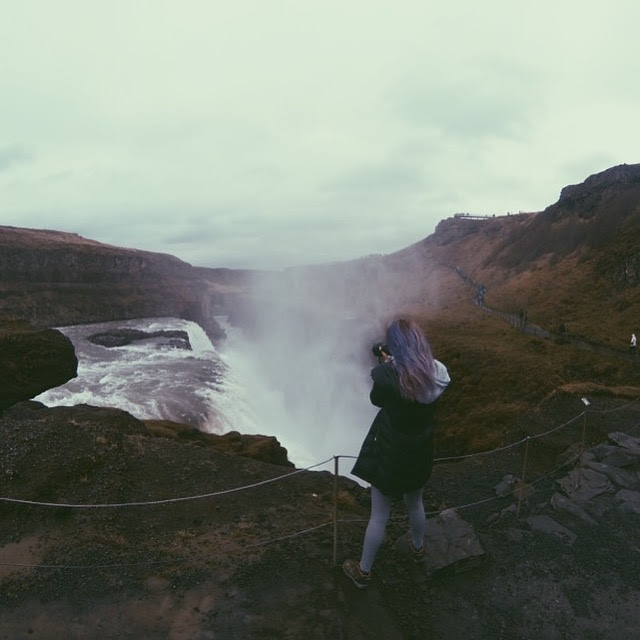 Making snaps of Gulfoss, Taken with iPhone & edited with VSCO.