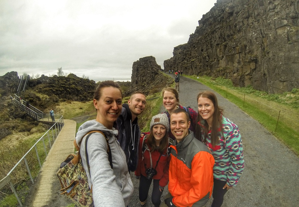 you never know, you might just meet up with friends in between two tectonic plates!