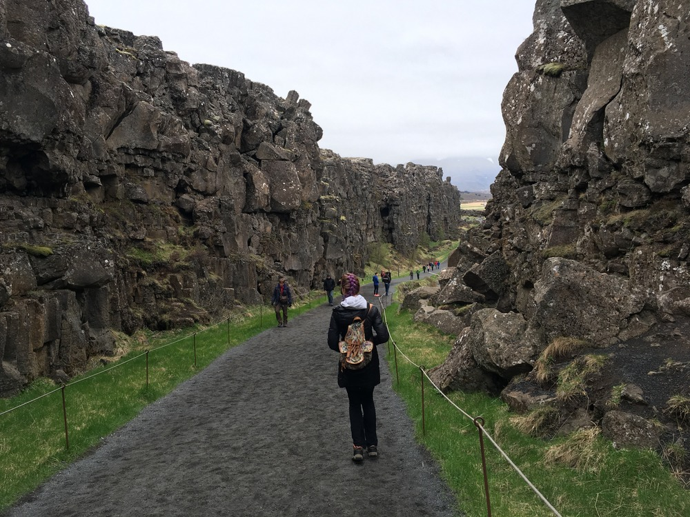 just a walk between two continental plates that are separating as we speak!