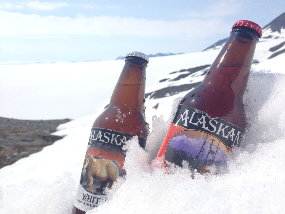 we didn't make it to alaskan brewing company but we did manage to hike up to worthington glacier with a few that needed to cool off. what better way to chill some brews than in a glacier?