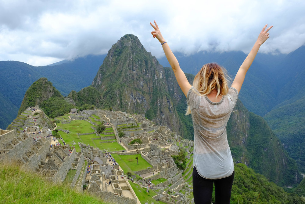 the iconic overlook of macchu pichu