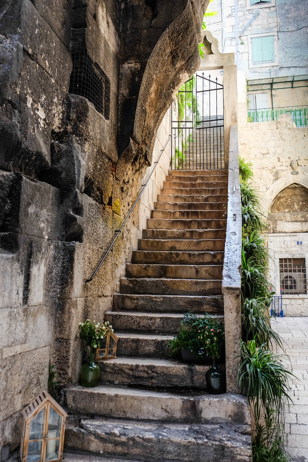 beautiful stone streets and alleys of old town split