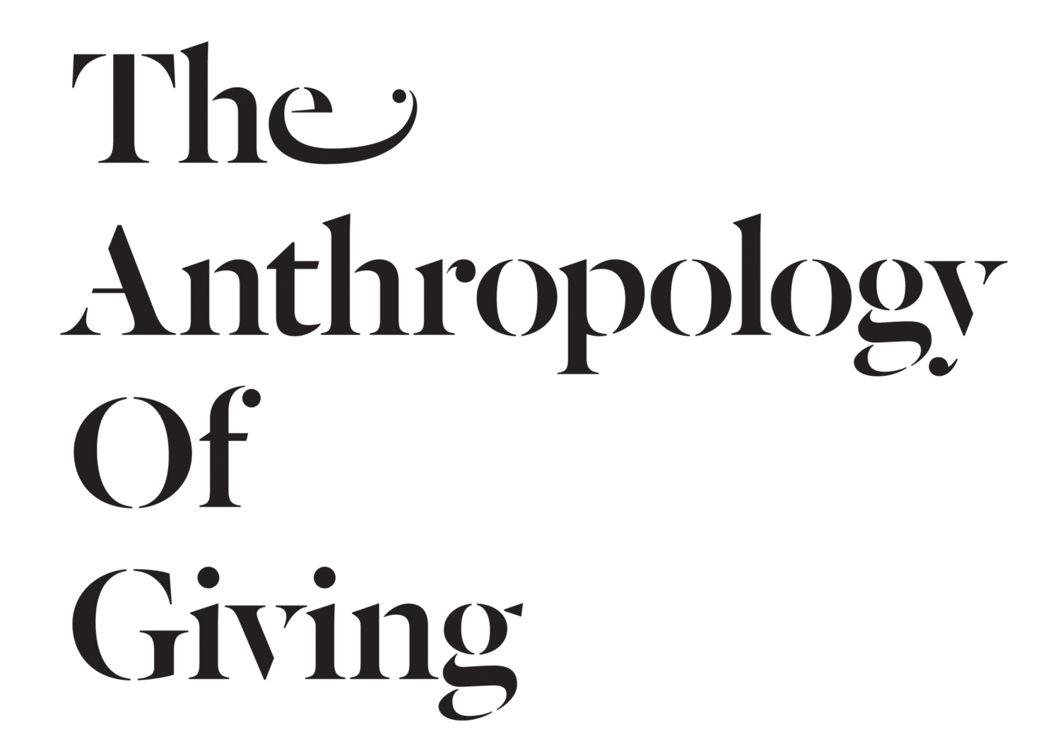 The Anthropology Of Giving