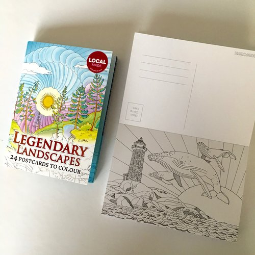 Legendary Landscapes Set Of 24 Postcards