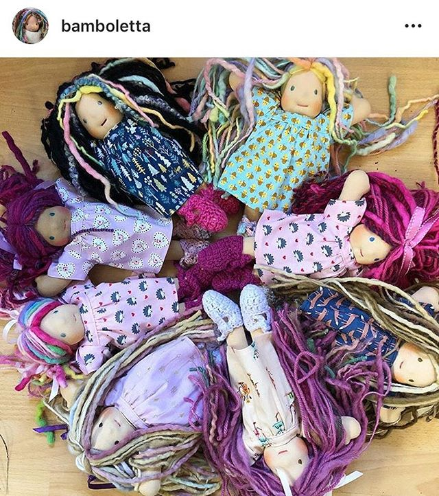 The Piccolina's are my favourite Bamboletta dolls & are an absolutely lovely thing to have in your life or share with others.  They will go quickly, if they aren't already gone.  Head to @bamboletta to purchase these adorable handmade pieces of art 💜  #happinessishandmade