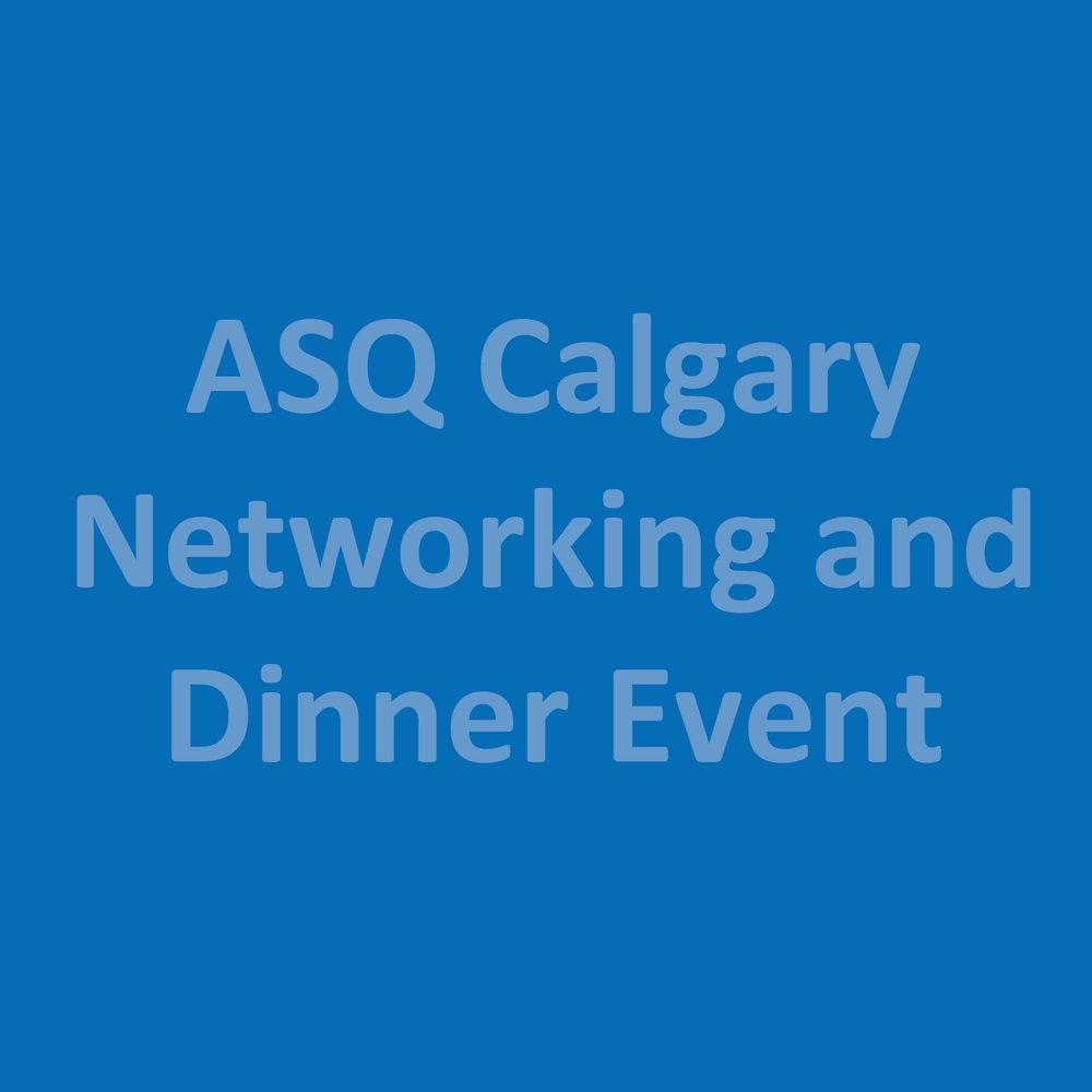 Events Calendar American Society For Quality Calgary