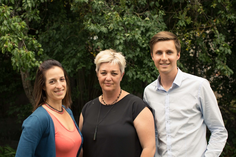 Sarah Yanicki, Leanne Curtis and Marcus Irvine, formerly of the community group CanCERN which wound up at the end of 2015. CanCERN was a community group that advocated for the needs of earthquake-affected residents.