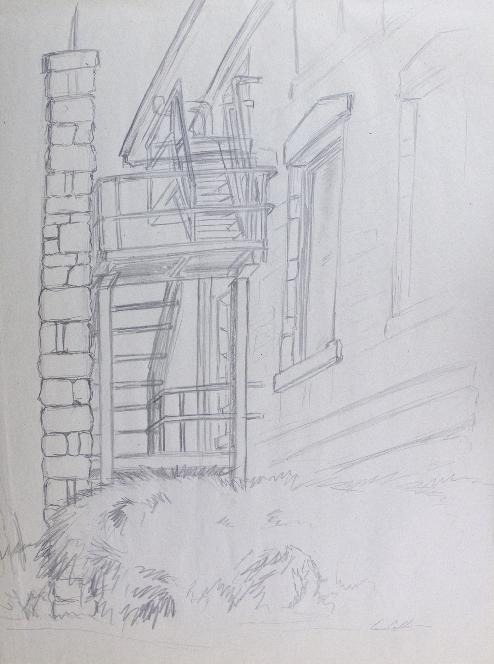 Stone & Steel Stair