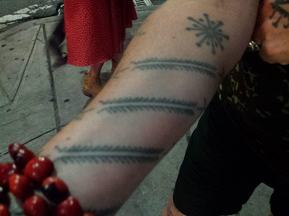 This image was taken post-workshop of Rosanna Raymond's centipede tattoo that reminds us to come with a bite but stay flexible and swift.