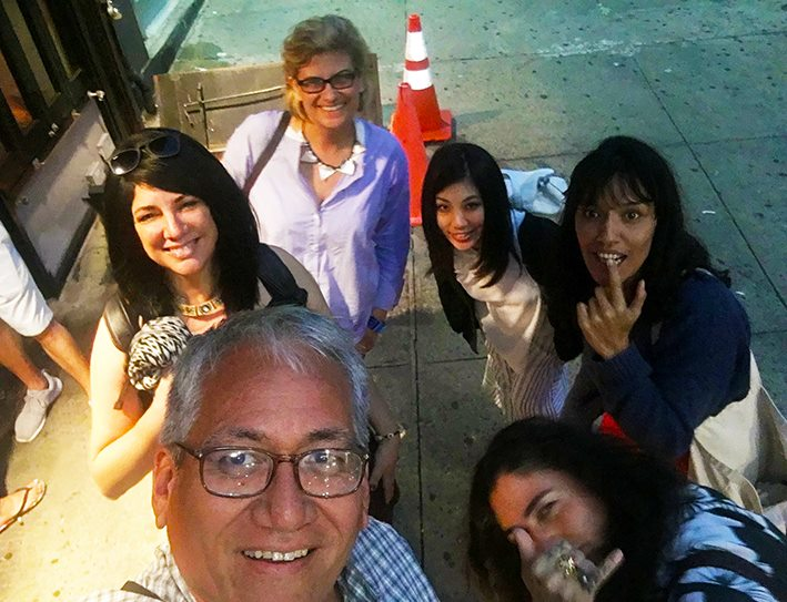 Photo lifted from Cristina Verán´s facebook post reflecting on our workshop. Selfie button activated by Dan Taulapapa McMullin of some of the workshop participants closing the long brainstorm day.