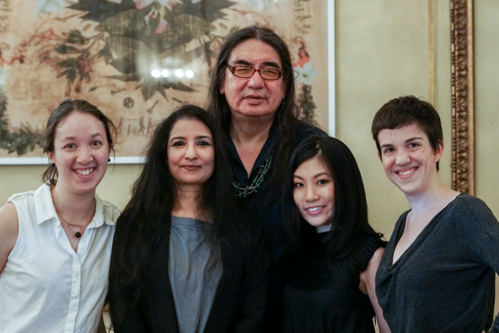 Left to right: Kristen Gaylord, Dr. Gunja Sengupta,   George Stonefish, Beatrice Glow and Kathleen Robin Joyce