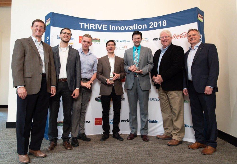 THRIVE-X university team winners from Demo Day 2018 in Salinas, California