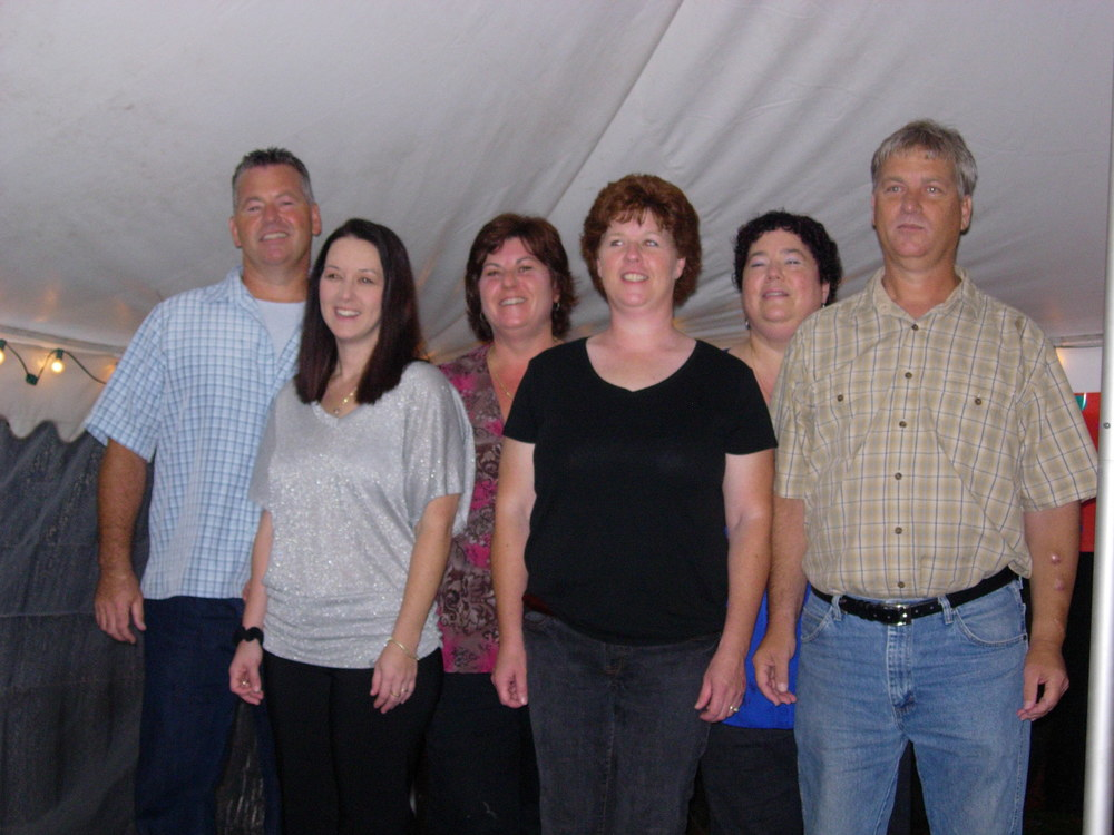 "All of us ""orphans"" together at my 50th birthday bash. Left to Right: Ben, Joy, Sharon, Carol, Laurie, Steven."