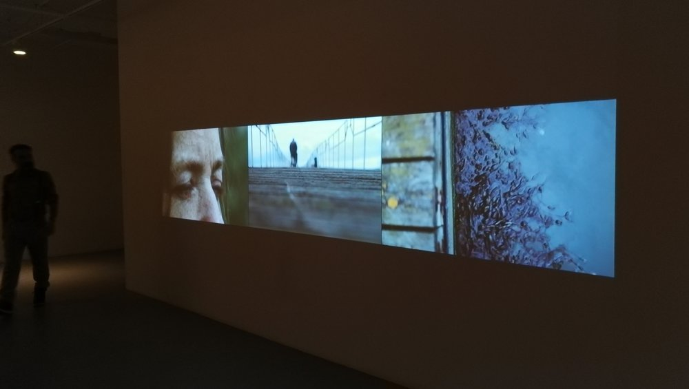 "Freedom or Movement?, a curatorial propose inspired by two Video installations of Juan delGado;  ""Sailing Out Of Grain"", England - 2012 & ""Walking Adrift"", Macedonia, France, Greece - 2016 ."