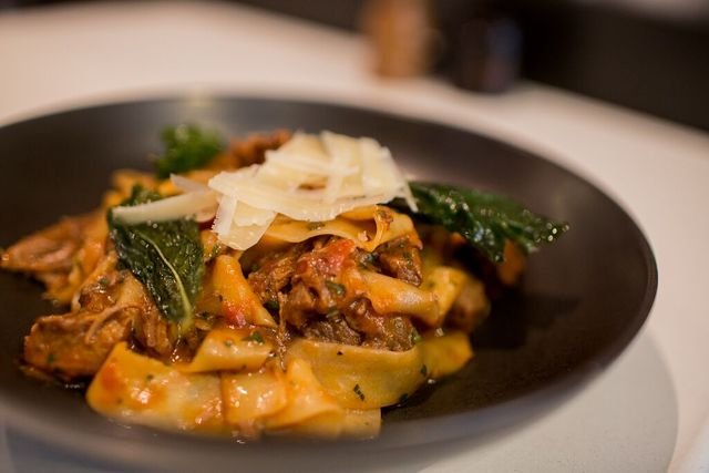 tuesday special - come down to vans on tuesday to have our slow cooked tuscan lamb ragu with housemate pappardelle, shaved parmesan & basil