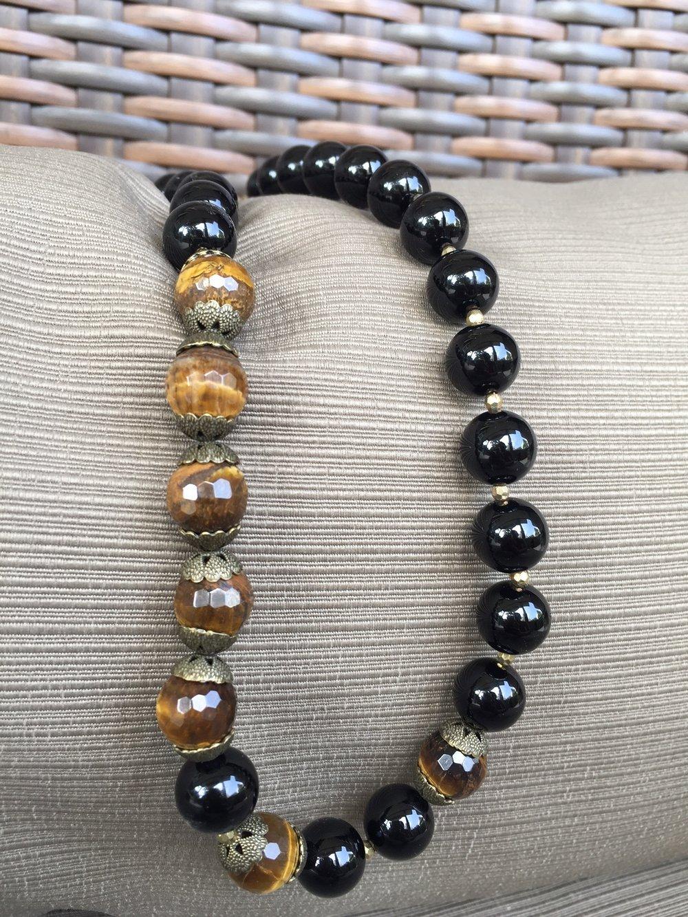 Black agate + Tiger eye necklace_2.JPG