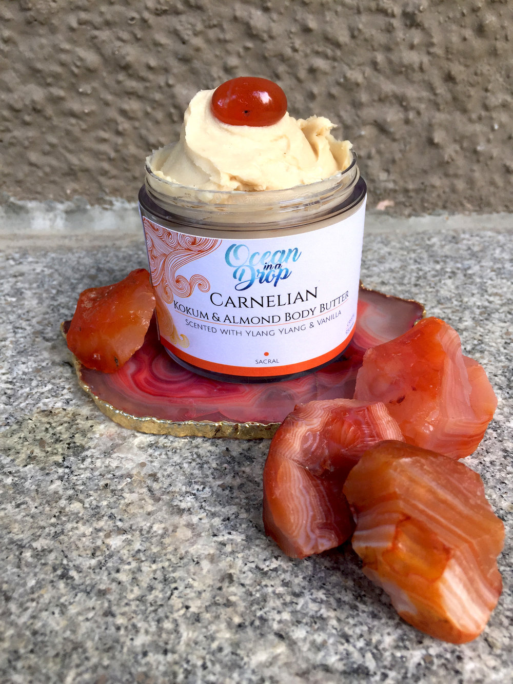 Natural body butter energised with healing crystals.