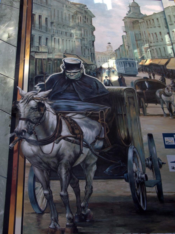 mural del dr. gull en la calle montera