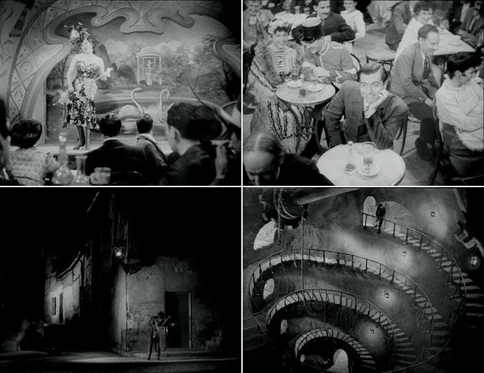 Fotogramas de La torre de los siete jorobados, en su adaptación al cine por Edgar Neville
