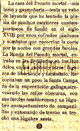 Carrere para La Tarde en su artículo «Una mansión de leyenda»