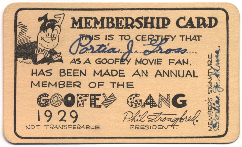 Tarjeta de la Goofey Gang