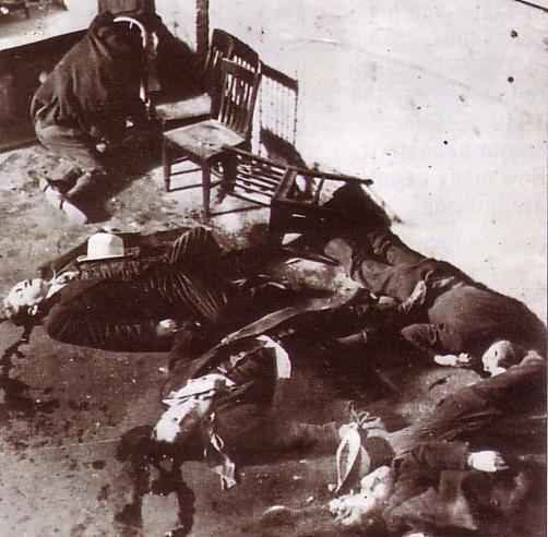 Las víctimas de la masacre de San Valentín