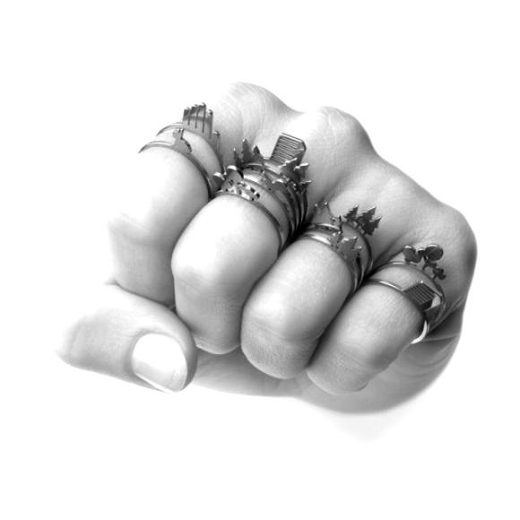 Unos actuales anillos cortantes inspirados en las joyas apaches