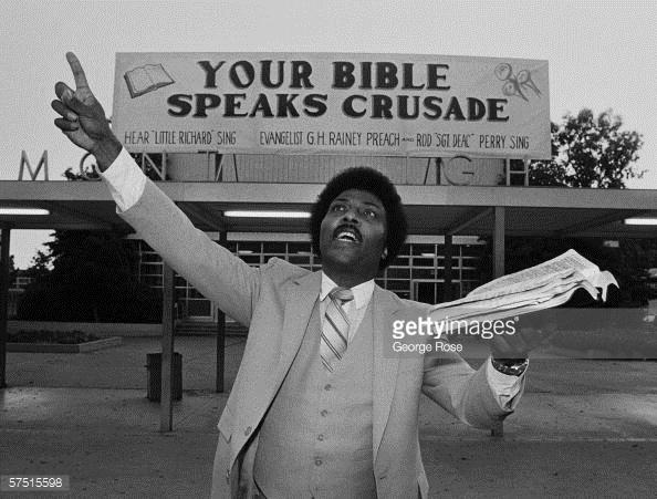 Little Richard convertido en ministro religioso