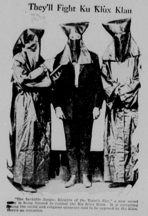 «Ellos combaten al Ku Klux Klan», recorte de prensa (septiembre, 1923)