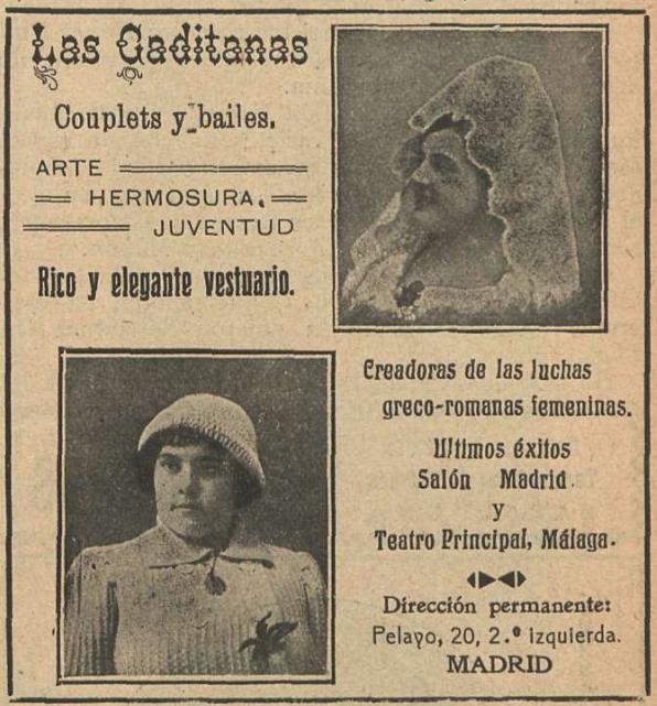 Las Gaditanas en  El Eco Artístico  (5 de mayo de 1914)