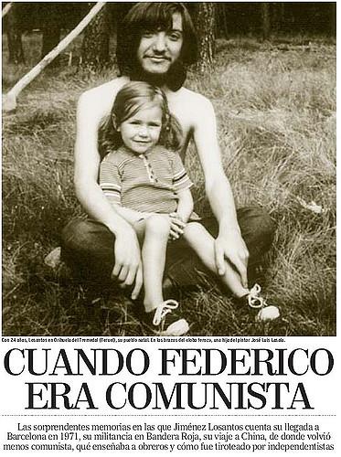 Reportaje sobre el pasado político de Losantos. La fotografía, fechada en 1971, pertenece a la época en que formaba parte de organización comunista Bandera Roja