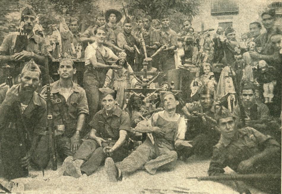 El Batallón de la Muerte y la célebre fotografía sacrílega