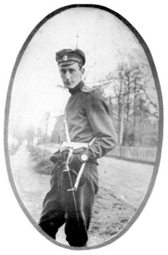 Joseph Czapski como oficial del ejército