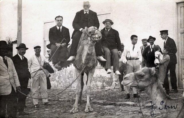 Unamuno durante su exilio forzoso en Fuerteventura