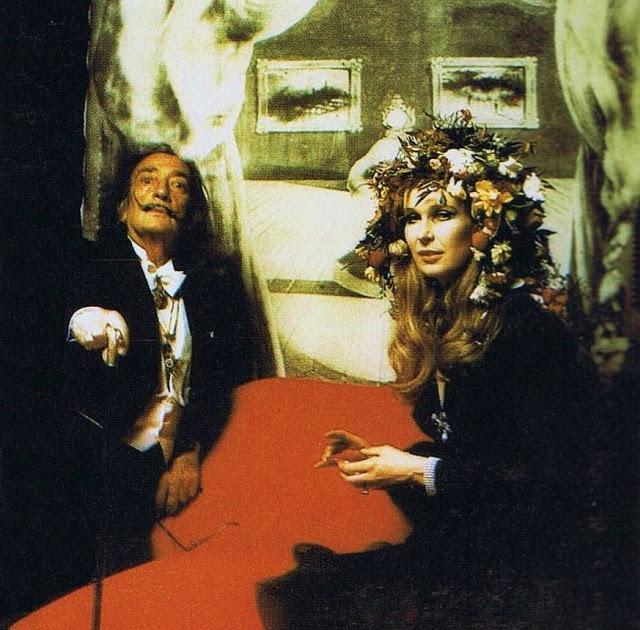 Salvador Dalí y Maria Gabriella de Savoia