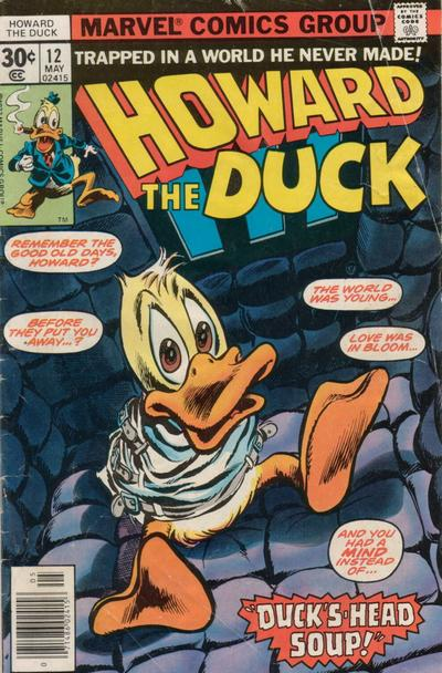 Portada de Howard the Duck (Vol. 1, número 12, mayo de 1977)