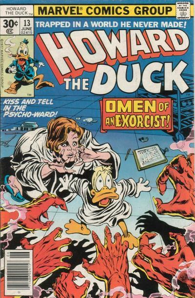 Portada de Howard the Duck (Vol. 1, número 13, junio de 1977)