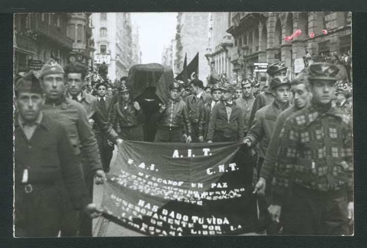 Funeral de Durruti por las calles de Barcelona