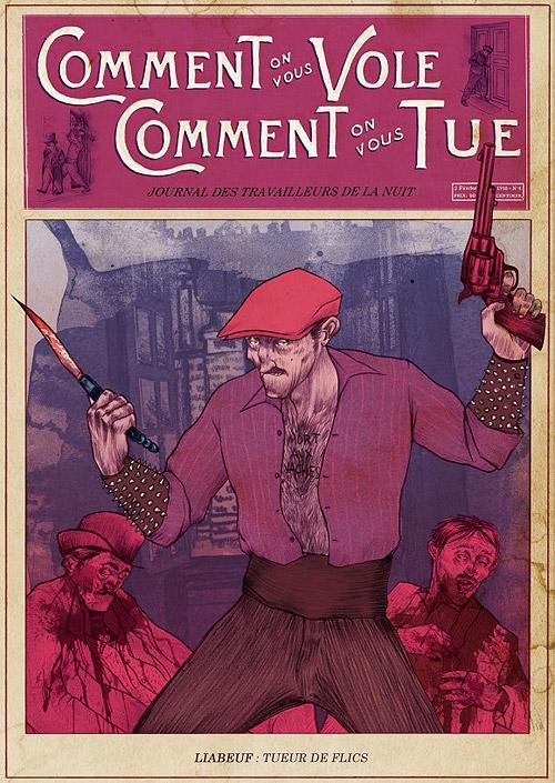 Publicación con la portada dedicada a Liabeuf
