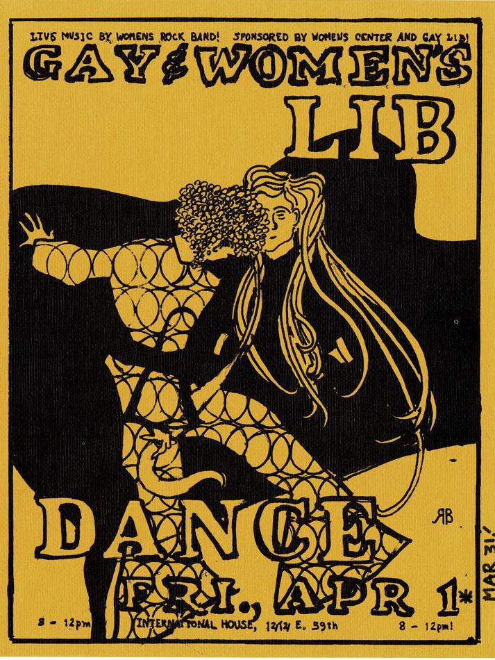 Baile del Gay and Women's Lib Dance en el International House de Chicago (sin fecha)