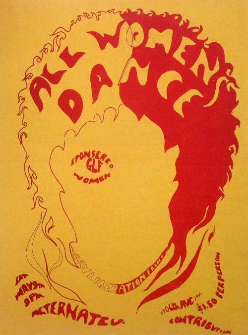 All Women's Dance, baile organizado por el Gay Liberation Front Women (1970)