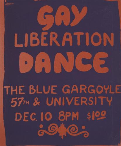 Cartel Gay Liberation Dance. Chicago (sin fecha)