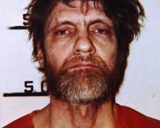 Unabomber posando para la ficha policial tras su detención