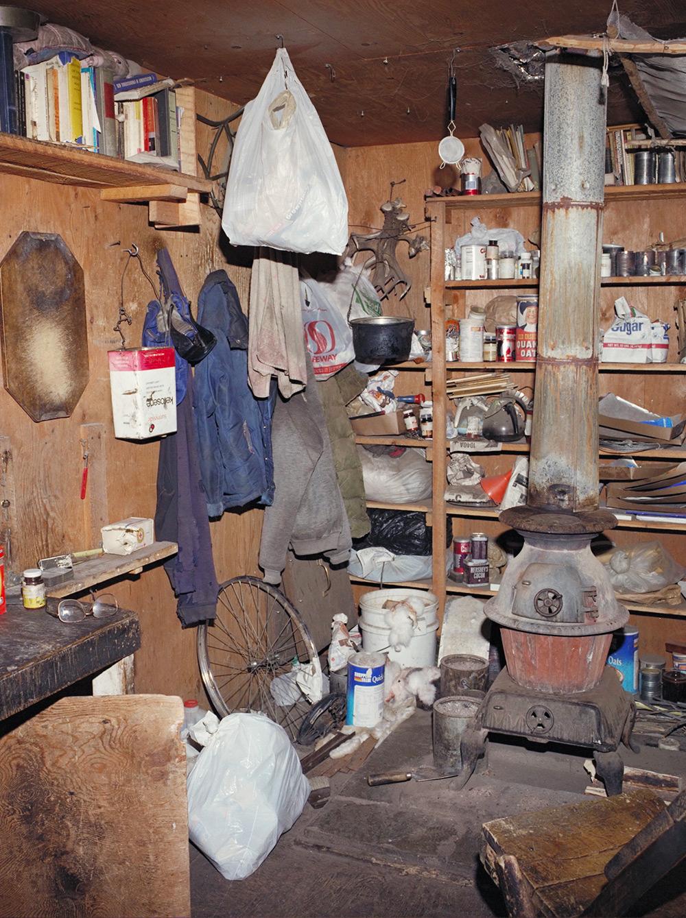 Interior de su cabaña