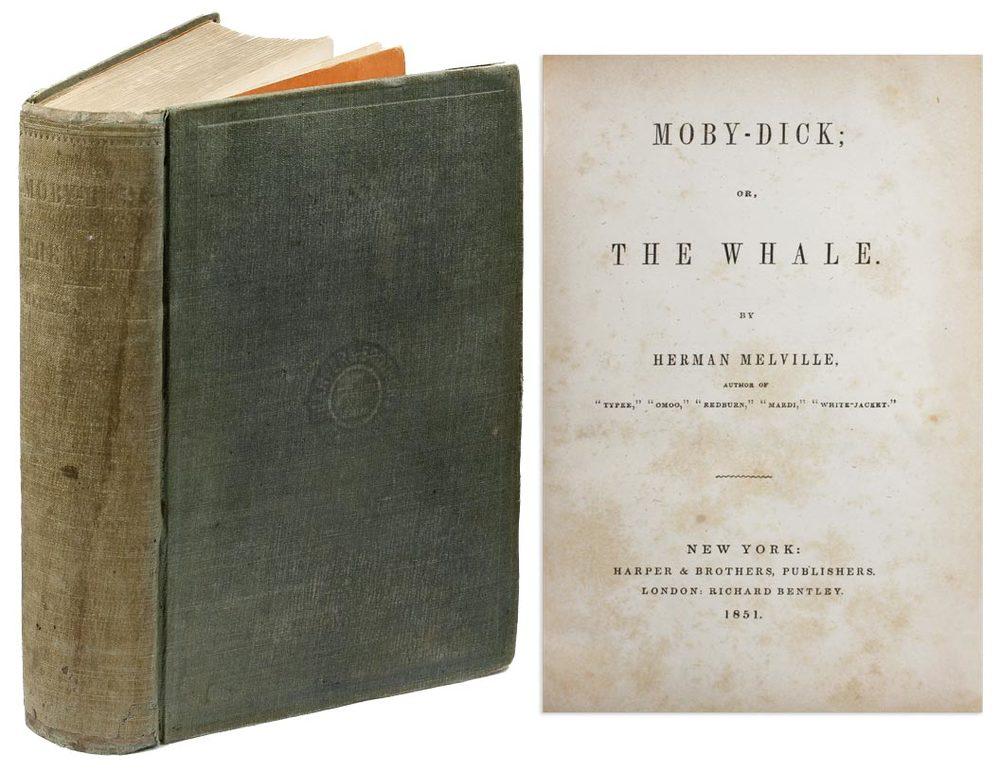 Primera edición de Moby Dick, de Herman Melville (1851)